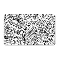 Zentangle Art Patterns Magnet (Rectangular)