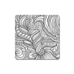 Zentangle Art Patterns Square Magnet