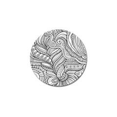 Zentangle Art Patterns Golf Ball Marker (4 Pack)