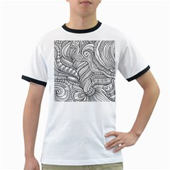 Zentangle Art Patterns Ringer T-Shirts