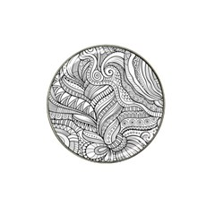 Zentangle Art Patterns Hat Clip Ball Marker