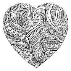 Zentangle Art Patterns Jigsaw Puzzle (heart)