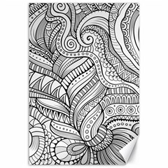 Zentangle Art Patterns Canvas 12  X 18