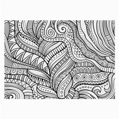 Zentangle Art Patterns Large Glasses Cloth (2-Side)
