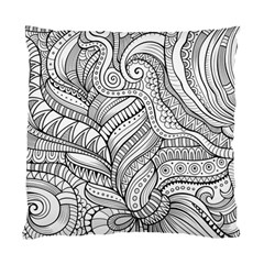 Zentangle Art Patterns Standard Cushion Case (one Side)