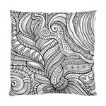 Zentangle Art Patterns Standard Cushion Case (One Side) Front
