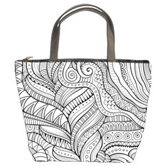 Zentangle Art Patterns Bucket Bags