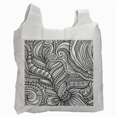 Zentangle Art Patterns Recycle Bag (One Side)