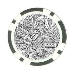 Zentangle Art Patterns Poker Chip Card Guard (10 Pack)