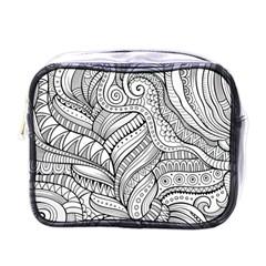 Zentangle Art Patterns Mini Toiletries Bags