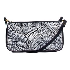 Zentangle Art Patterns Shoulder Clutch Bags