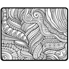 Zentangle Art Patterns Fleece Blanket (medium)