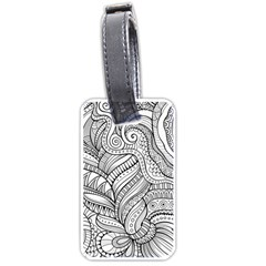 Zentangle Art Patterns Luggage Tags (two Sides)