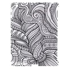Zentangle Art Patterns Apple Ipad 3/4 Hardshell Case (compatible With Smart Cover)