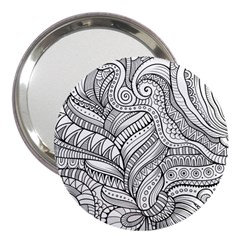 Zentangle Art Patterns 3  Handbag Mirrors