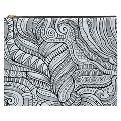 Zentangle Art Patterns Cosmetic Bag (XXXL)