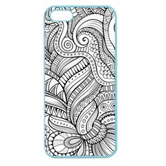 Zentangle Art Patterns Apple Seamless Iphone 5 Case (color)