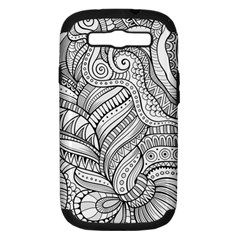 Zentangle Art Patterns Samsung Galaxy S Iii Hardshell Case (pc+silicone)