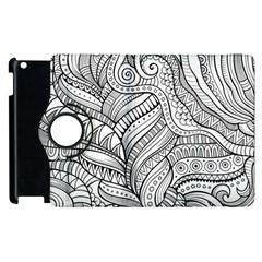 Zentangle Art Patterns Apple Ipad 2 Flip 360 Case