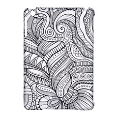 Zentangle Art Patterns Apple Ipad Mini Hardshell Case (compatible With Smart Cover)