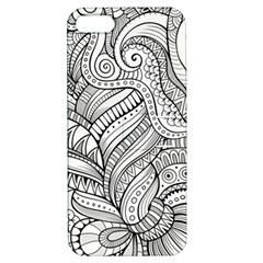 Zentangle Art Patterns Apple iPhone 5 Hardshell Case with Stand