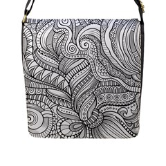 Zentangle Art Patterns Flap Messenger Bag (l)
