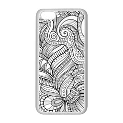Zentangle Art Patterns Apple Iphone 5c Seamless Case (white)