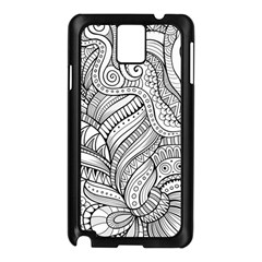 Zentangle Art Patterns Samsung Galaxy Note 3 N9005 Case (black)