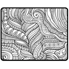 Zentangle Art Patterns Double Sided Fleece Blanket (Medium)
