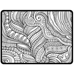 Zentangle Art Patterns Double Sided Fleece Blanket (Large)