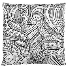 Zentangle Art Patterns Large Flano Cushion Case (two Sides)