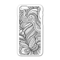 Zentangle Art Patterns Apple Iphone 6/6s White Enamel Case