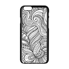 Zentangle Art Patterns Apple Iphone 6/6s Black Enamel Case