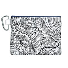 Zentangle Art Patterns Canvas Cosmetic Bag (xl)