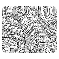 Zentangle Art Patterns Double Sided Flano Blanket (Small)