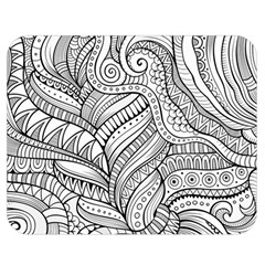 Zentangle Art Patterns Double Sided Flano Blanket (medium)