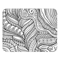 Zentangle Art Patterns Double Sided Flano Blanket (large)