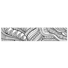 Zentangle Art Patterns Flano Scarf (small)