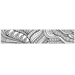 Zentangle Art Patterns Flano Scarf (large)