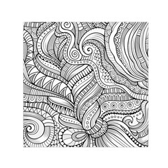 Zentangle Art Patterns Small Satin Scarf (square)