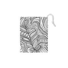 Zentangle Art Patterns Drawstring Pouches (XS)