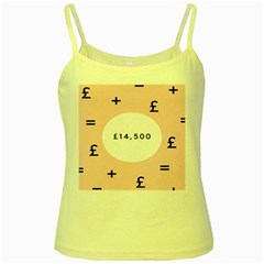 Added Less Equal With Pink White Yellow Spaghetti Tank