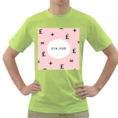 Added Less Equal With Pink White Green T Shirt