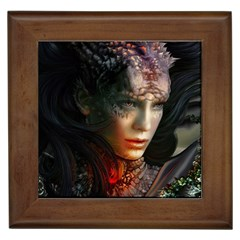 Digital Fantasy Girl Art Framed Tiles