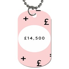 Added Less Equal With Pink White Dog Tag (two Sides)
