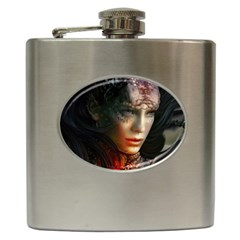 Digital Fantasy Girl Art Hip Flask (6 Oz)