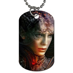 Digital Fantasy Girl Art Dog Tag (Two Sides)