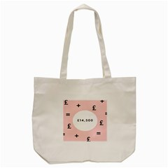 Added Less Equal With Pink White Tote Bag (cream)