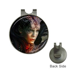 Digital Fantasy Girl Art Hat Clips with Golf Markers