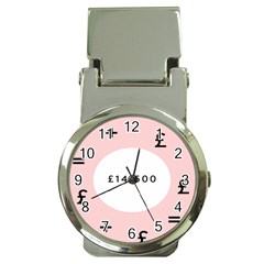 Added Less Equal With Pink White Money Clip Watches